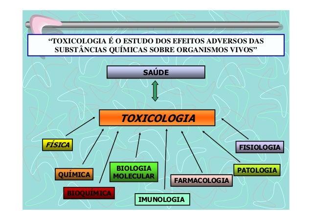 """""""TOXICOLOGIA É O ESTUDO DOS EFEITOS ADVERSOS DAS  SUBSTÂNCIAS QUÍMICAS SOBRE ORGANISMOS VIVOS""""  TOXICOLOGIA  FÍSICA  QUÍMI..."""