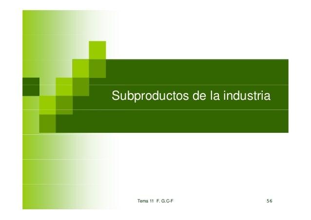 Subproductos de la industria    Tema 11 F. G.C-F       56