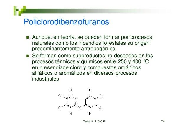 Policlorodibenzofuranos  Aunque,  Aunque en teoría se pueden formar por procesos                teoría,  naturales como lo...