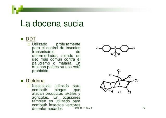 La docena sucia DDT   Utilizado     p                 profusamente   para el control de insectos   transmisores           ...
