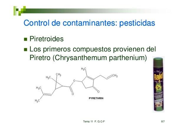Control deC t l d contaminantes: pesticidas           t i    t       ti id Piretroides Pi     id Los primeros compuestos p...