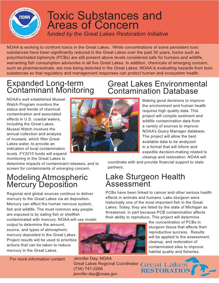 Toxic Substances and                     Areas of Concern                     funded by the Great Lakes Restoration Initia...