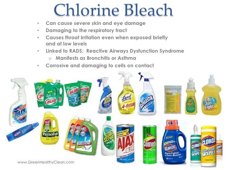 Chlorine Irritation - 5 Reasons To Avoid Chlorine Bleach And