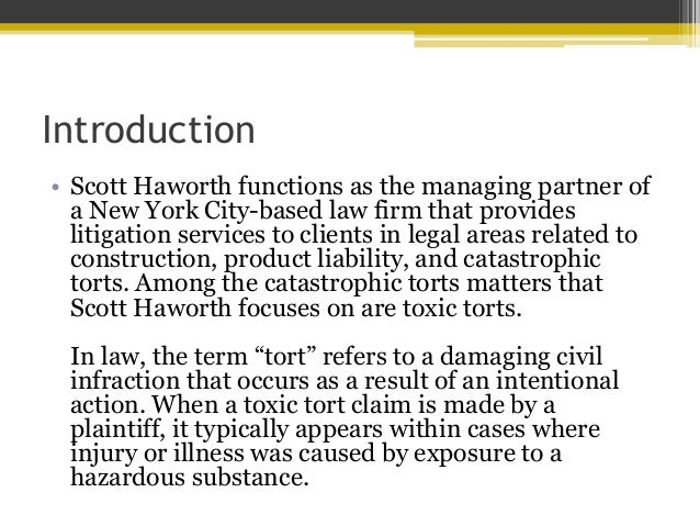tort law construction Nuisance is the branch of the law of tort concerned with 'protection of environment' nuisance refers to anything that causes offense, interruption of enjoyment, annoyance, or possible trouble, damage, or injury this paper provides a short overview on nuisance and its relations to the construction .