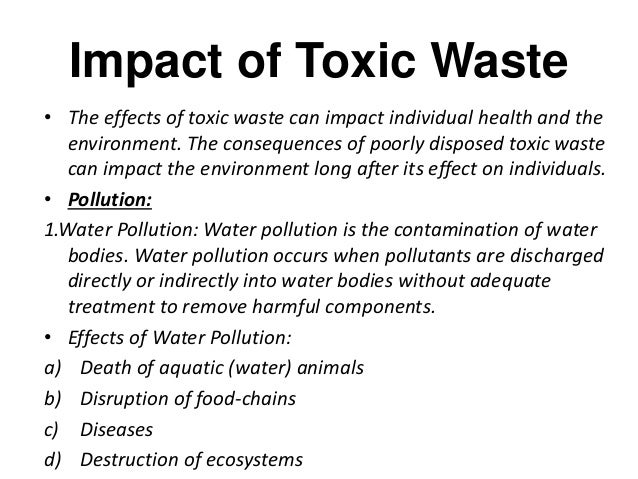 Toxic waste and environmental laws