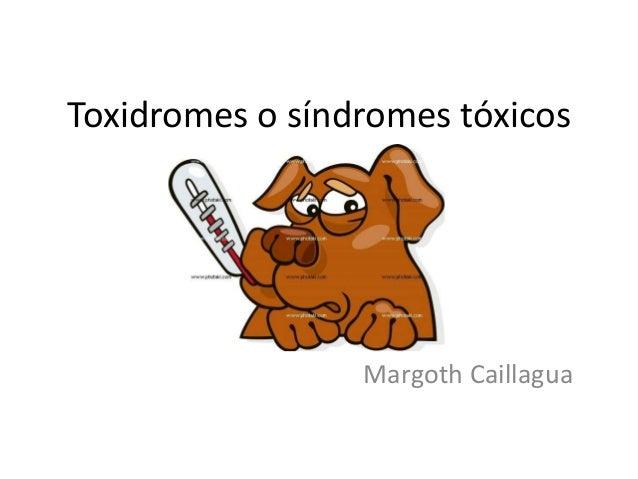 Toxidromes o síndromes tóxicos  Margoth Caillagua