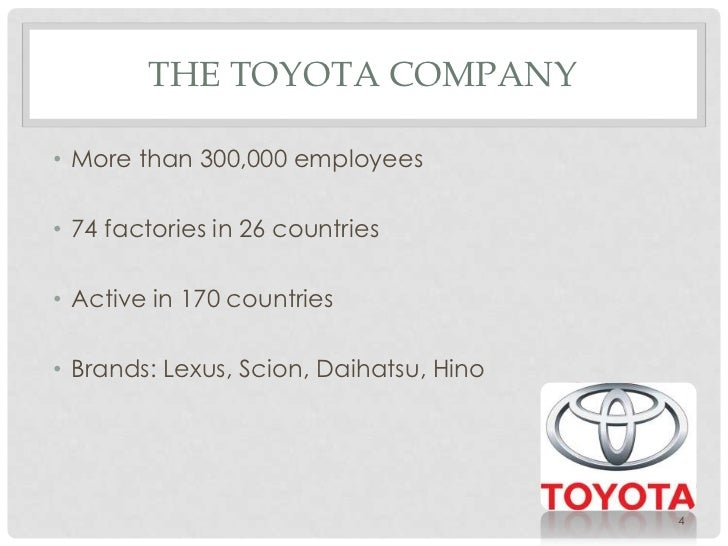 an overview of the challenges and triumphs of toyota as a company Lean manufacturing or lean the steady growth of toyota, from a small company to the world's the major challenge that ford faced was that his methods.