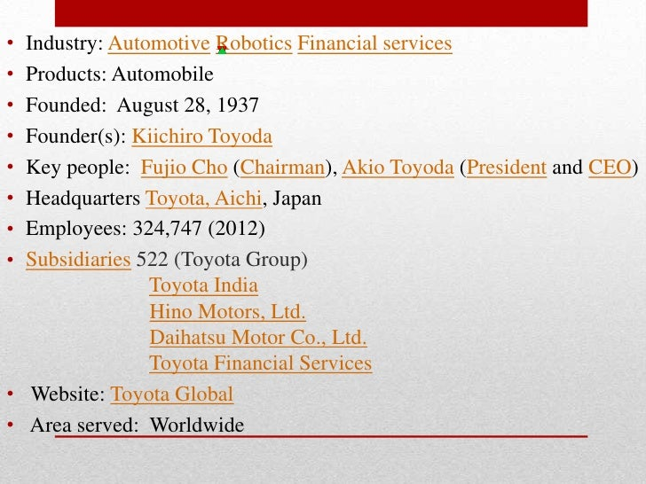 """toyota global marketing strategies Toyota production system -business and marketing  60 stay with the """"toyota way"""" or seek alternative strategies  production system -business and marketing."""