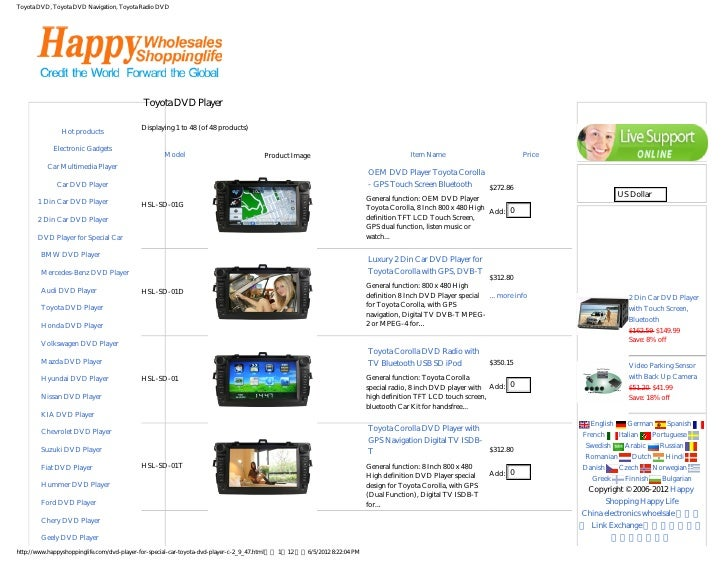Toyota DVD, Toyota DVD Navigation, Toyota Radio DVD                                            Toyota DVD Player          ...