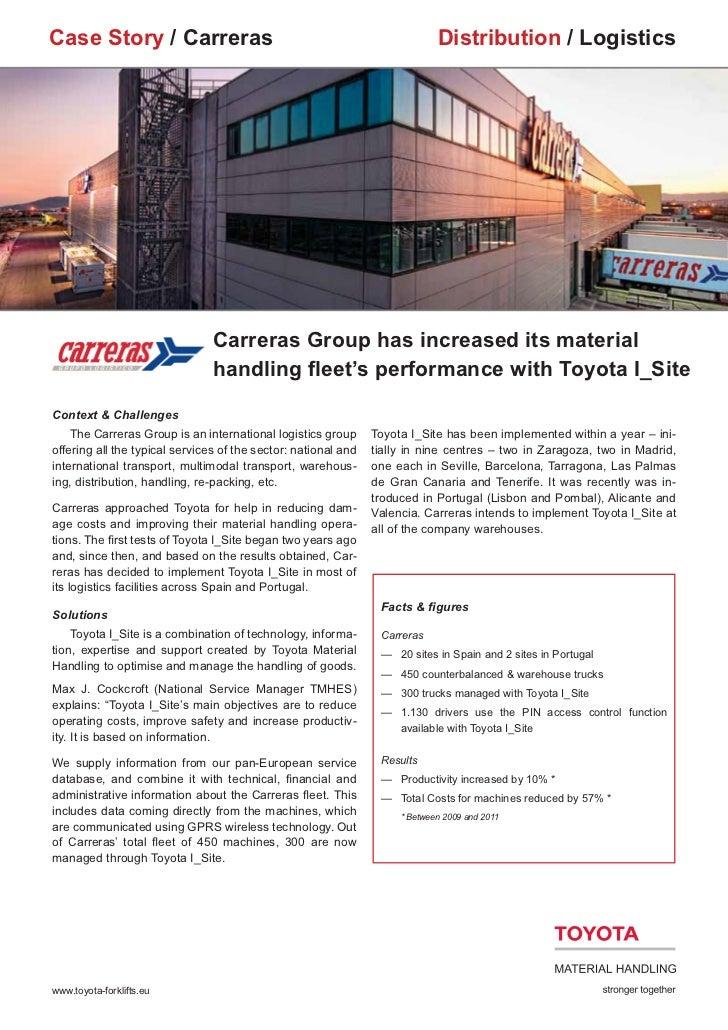 Case Story / Carreras                                                        Distribution / Logistics                     ...