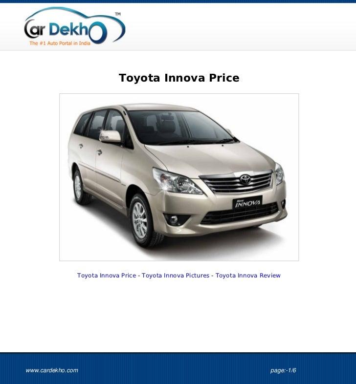 Toyota Innova Price               Toyota Innova Price - Toyota Innova Pictures - Toyota Innova Reviewwww.cardekho.com     ...