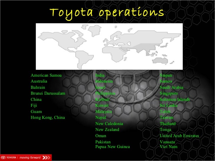 international business toyota Negotiating international business - japan this section is an excerpt from the book negotiating international business - the negotiator's reference guide to 50 countries around the world by lothar katz.