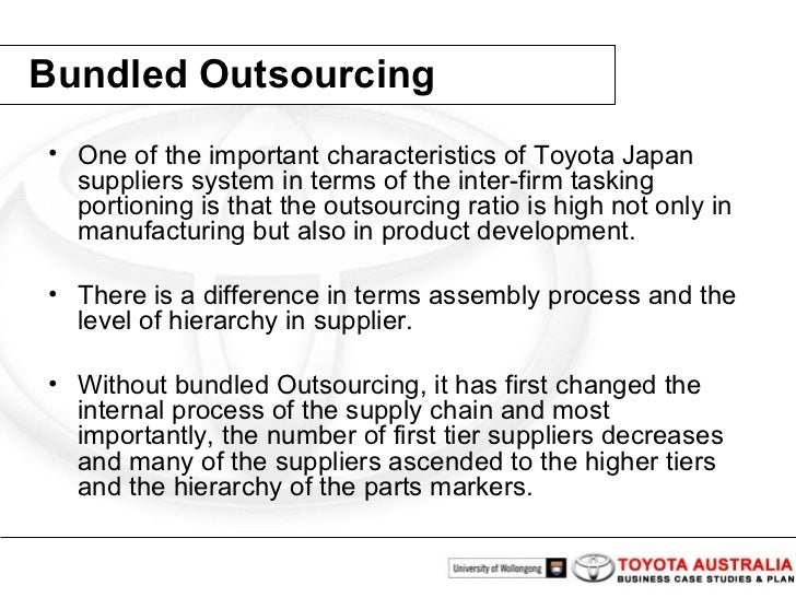 Case Research : Toyota Generator Corp