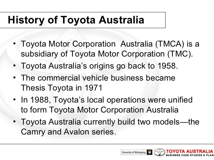 marketing plan toyota motors corporation india essay Toyota motor corporation is one of the taking car makers in the universe for illustration, indian concern conditions and american concern conditions are wholly different for toyota and they have specific usage made vehicles for different parts.