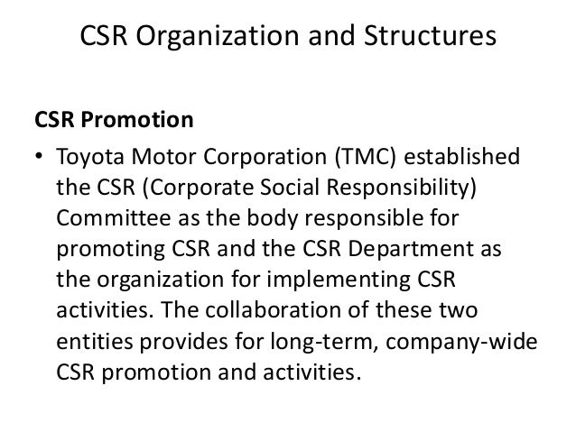 toyota ethics and social responsibility