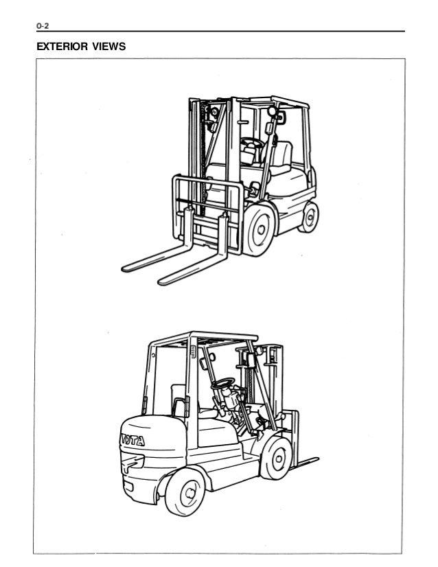 Toyota 6 fg14 forklift service repair manual
