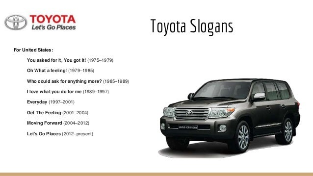 toyota marketing strategy Marketing strategy planning looks at where a business is, where it wants to go  and what marketing efforts will get results.