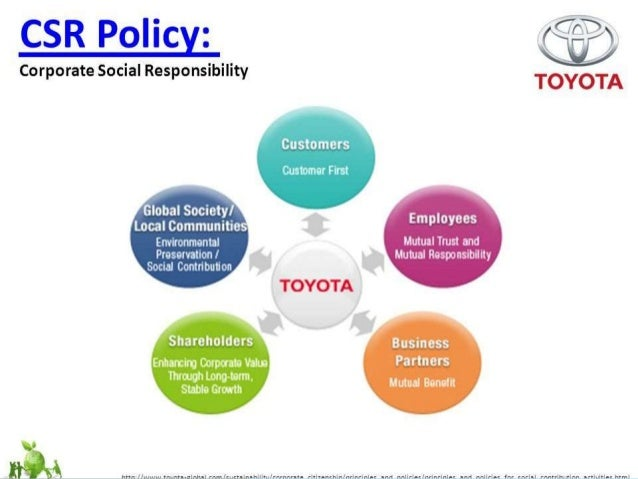 toyota corporate social responsibility All corporate news toyota in north texas our american journey sales/financial vice president, product, marketing, brand, corporate social responsibility & communications, toyota financial services benito huerta, artist toyota social rss policies legal terms social policy.