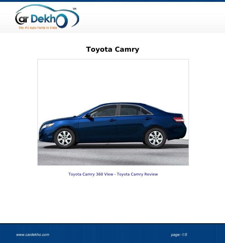 Toyota Camry                   Toyota Camry 360 View - Toyota Camry Reviewwww.cardekho.com                                ...