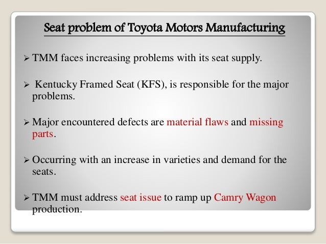 a case study of toyota motor A case study of toyota in india toyota motor corporation of japan kirloskar group of india in addition to manufacturing cars, we also contribute to local.