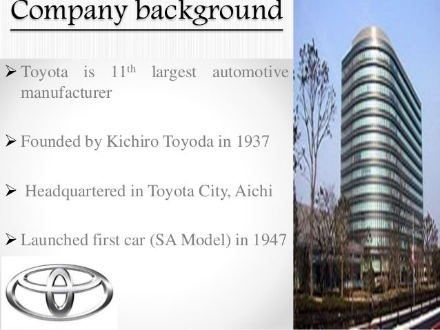 summary case toyota motor manufacturing u s a inc Supreme court of the state of new york county of new york  toyota motor north america, inc  is a holding company for toyota japan's manufacturing.