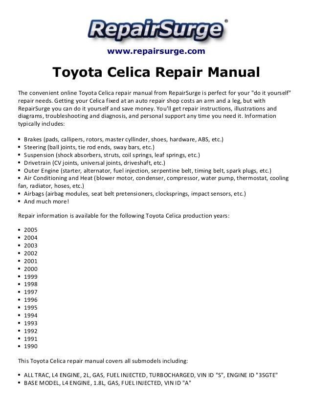toyota celica 1990 repair manual user guide manual that easy to read u2022 rh lenderdirectory co 1991 Toyota Celica 1989 Toyota Celica
