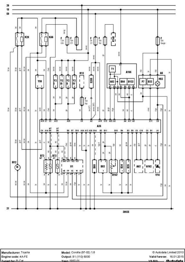 Toyota corolla 16 ecu wiring