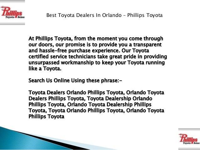 ... Phillips Toyota; 2.
