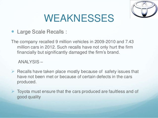 Toyota Analysis Of Vision Statement Corporate Level