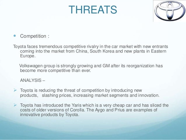 strategic analysys of toyota This case study by benenson strategy group studies how toyota regained its position as the world's top auto manufacturer after its 2009 recall crisis.