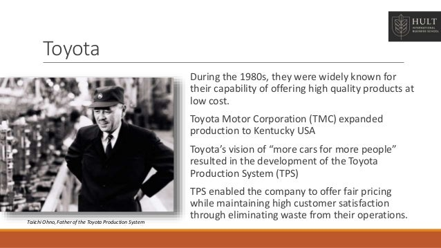 a brief study on toyota s operation and total quality management Total quality management (tqm) would not be what it is today without toyota motors renowned for its lean production system, toyota motors is the tenth most.