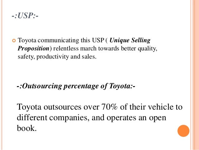 toyota s value proposition The fit with a toyota value proposition in this example you see the match with a different customer segment a potential customer with different needs and a smaller budget.
