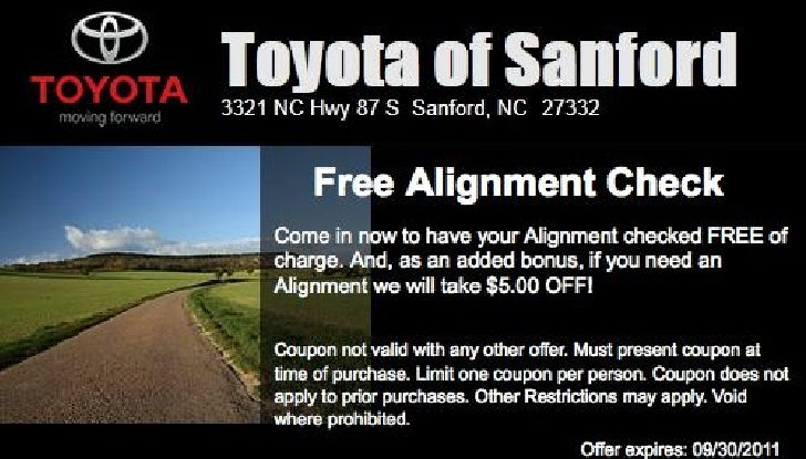 Toyota FREE Alignment Inspection NC | Toyota Dealer near Raleigh