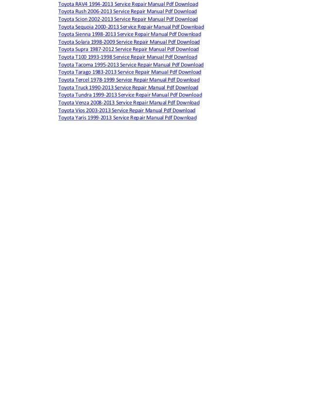 2017 toyota hiace 1985 2013 service repair manual pdf download fandeluxe Gallery