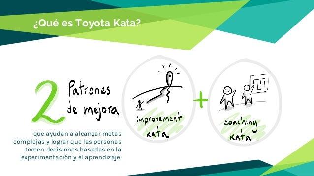 ¿Qué es Toyota Kata? que ayudan a alcanzar metas complejas y lograr que las personas tomen decisiones basadas en la experi...