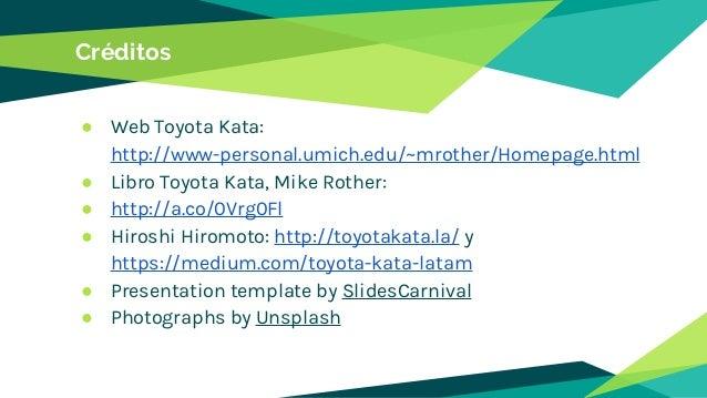 Toyota kata - Creando hábitos de mejora continua