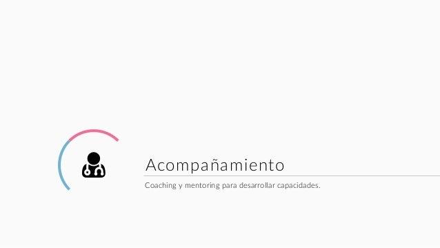 ( Acompañamiento Coaching y mentoring para desarrollar capacidades.
