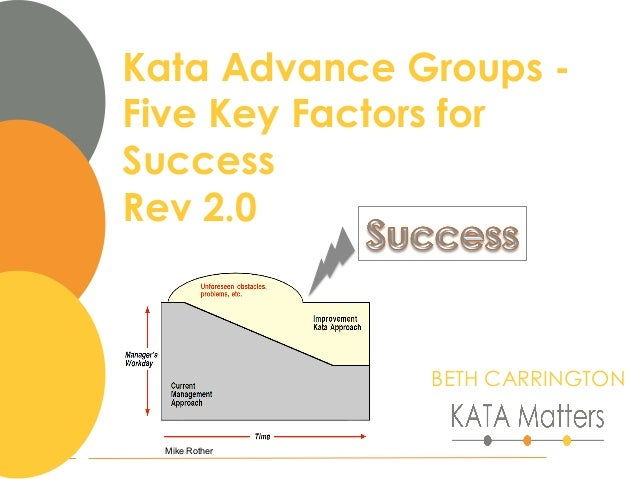 1Mike Rother Kata Advance Groups - Five Key Factors for Success Rev 2.0 BETH CARRINGTON