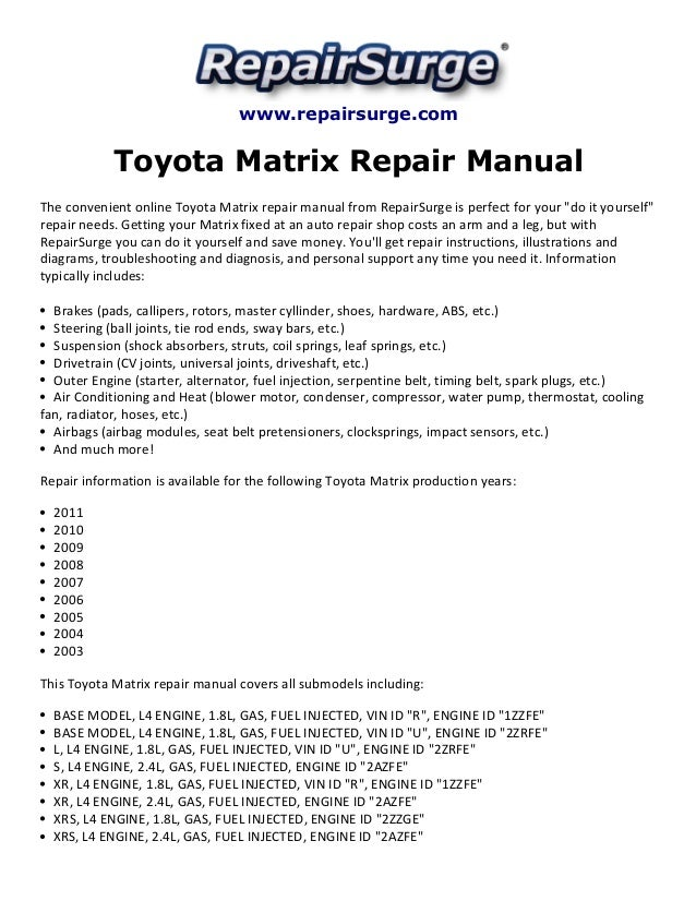 2009 matrix repair manual today manual guide trends sample toyota matrix repair manual 2003 2011 rh slideshare net 2009 toyota matrix repair manual pdf 2009 toyota matrix repair manual free fandeluxe