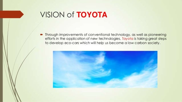toyotas mission