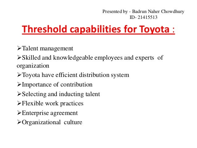 toyota motor corporation csr Environmental corporate social responsibility of firms in the mining and oil and  gas industries: current  toyota motor corporation global website.