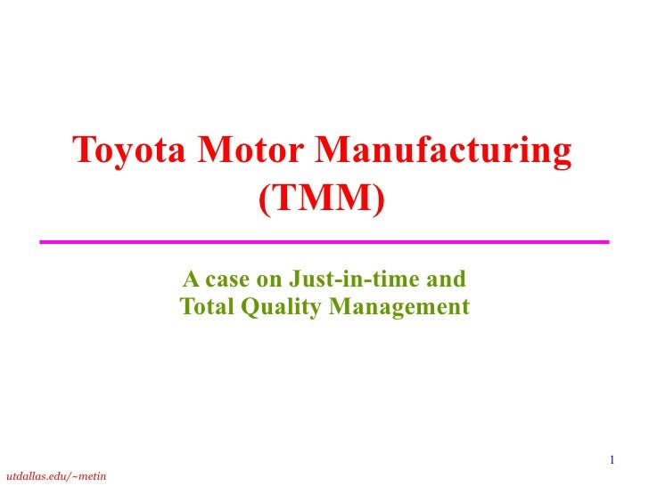 Toyota tqm implementation case study