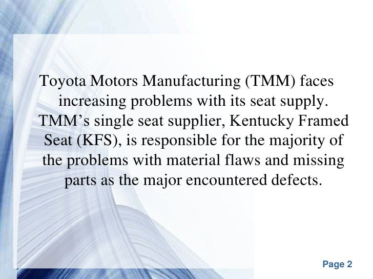 toyota manufacturing problems