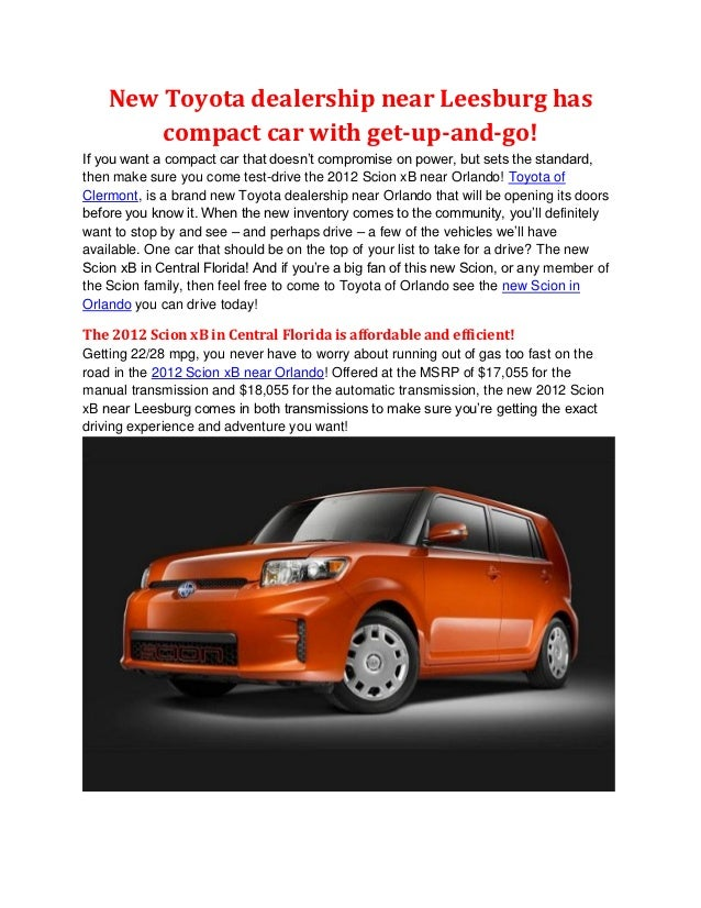 New Toyota dealership near Leesburg has        compact car with get-up-and-go!If you want a compact car that doesn't compr...