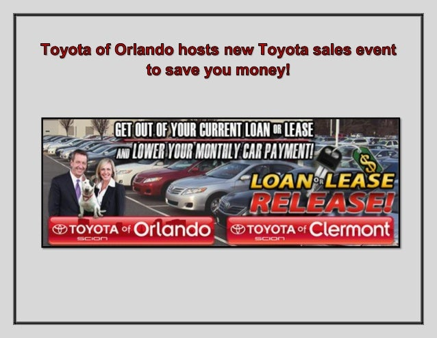 It's time for the Loan or Lease Release event at Toyota of Orlando and we're offering some incredible deals! If you want o...