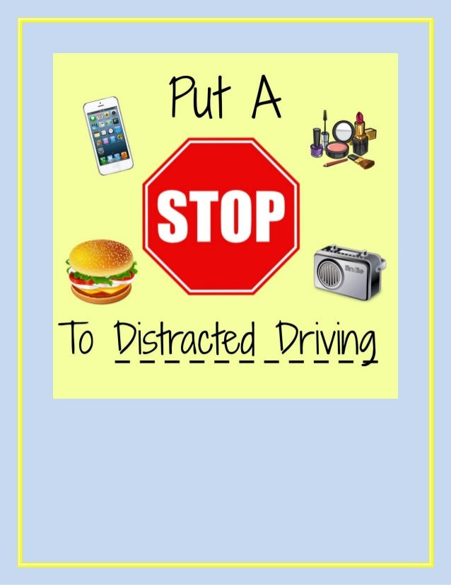 Do NOT text and drive or eat and drive! While behind the wheel, you should be totally focused on driving!