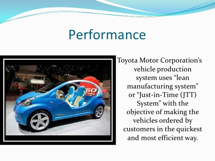 Toyota power point presentation for Toyota motor corporation mission statement