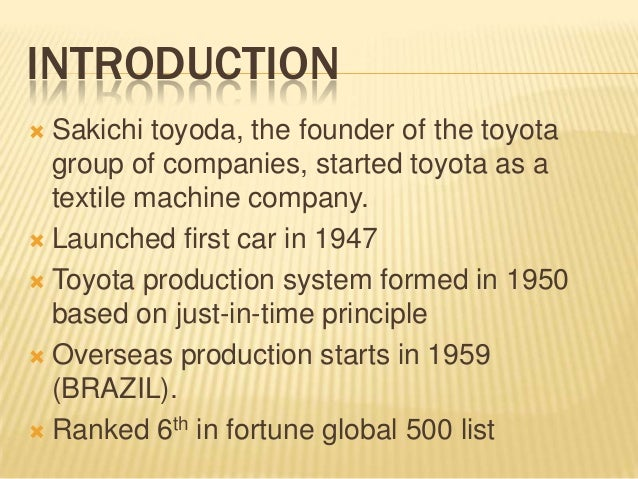 toyota ppt Template:toyota motor corporation jump to navigation jump to search initial visibility to set the template's initial visibility, the |state= parameter may be used.