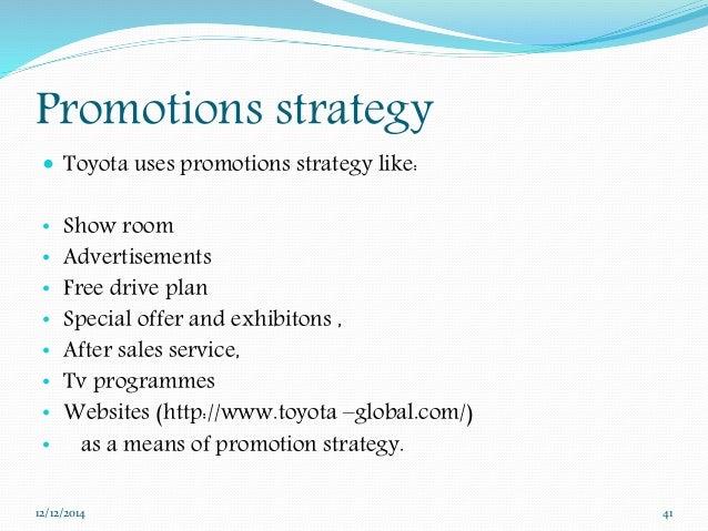 Toyota on international marketing