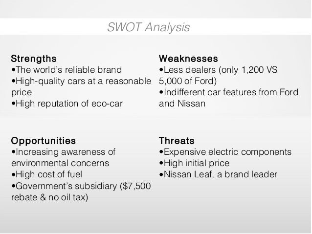 swot analysis of toyota pdf